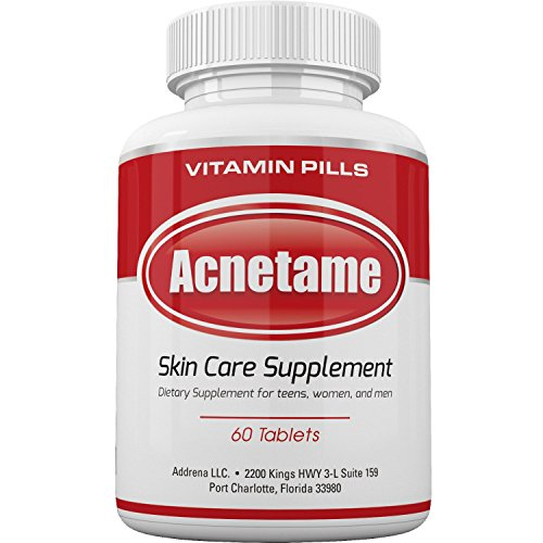 Acnetame- Acne Pills, Acne Supplements, and Vitamins for Acne Treatment UK- 60 Natural Tablets- Best Clear Skin Pill that Works for Spots, Cystic, & Oily Skin as a Hormonal Blemish tablet for Men, Women, and Teens