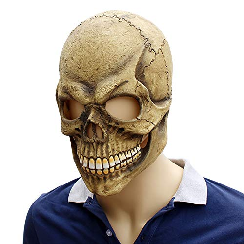 Story of life Skeleton Skull Ghost Death Masks Halloween-Kostüm Cosplay Vollmaske Für Karneval Halloween-Mottopartys,Flesh