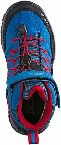 CMP  Rigel, Chaussures de trekking et randonnée garçon - Bleu/Rouge