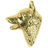 NORWEGIAN BUHUND Made in U.K Artistic Style Dog Clutch Lapel Pin Collection 22ct Gold Plated by DOG ARTS JP