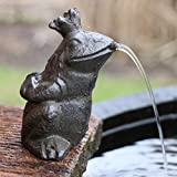 Gartenzaubereien Wasserspeier Froschkönig aus Gusseisen