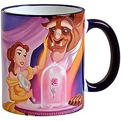 La Bella y la Bestia de Disney 320ml Copa Secret Love Belle Rose bestia de la cerámica Elbenwald