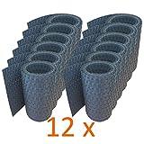 workingHOUSE® Polyrattan-Sichtschutzstreifen, Sichtschutz für Doppelstabmatten Zaun, 19 x 250 cm (12 x Anthrazit)