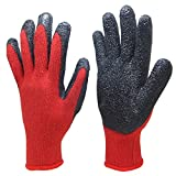 ZXCVBNM Verdickungs-Falten-Eingetauchte Getauchte Handschuhe Rutschfeste Abnutzungs-Widerstehende Schnitt-Gummiarbeitskraft-Arbeitsgummi-Wasserdichte Handschuhe,#2