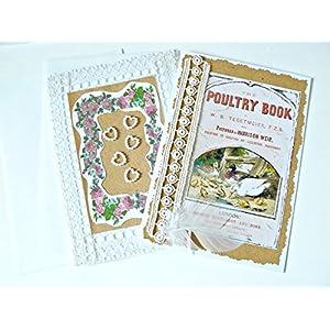 Unikate handmade Karten 'Nostalgie' Set 2 Stück mit Umschlag Grußkarten