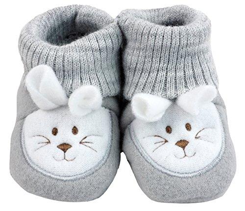 France Tendances Baby Schuhe Strickschuhe Erstlingsschuhe Mäuse das kleine Geschenk (0-3 Monate) Anthrazit -