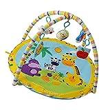MagiDeal Spielbogen Baby Spielmatte super weiches Gewebe Bettdecke Babybett Indoor Activity Spielen Mat Toy Motorikspielzeug - Tiere, 85x85x50cm