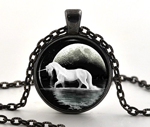 black-unicorn-glass-pendant-necklace-fantasy-white-horse-jewellery-gifts-for-her