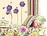 BONAMART lila Blüte Schmetterling abnehmbaren wandtattoo schlafzimmer LD610