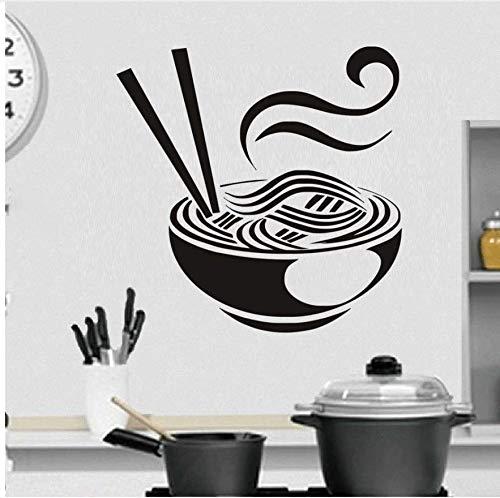 Zzdyb Wall Sticker Creativo Cucina Cucina Adesivo Da Parete In Pvc Una  Ciotola Di Noodles Adesivo Fai Da Te Arte Murale Poster Da Parete Home  Decor ...