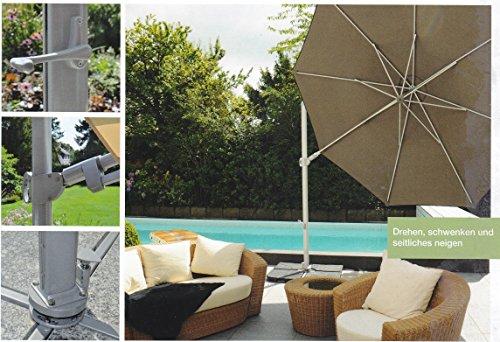 Il tuttofare-Saint Tropez XL-Pinze Berg-GERMANY-Ruotare laterale + inclinazione laterale-Ombrellone-350cm Ø-colore: beige-STABIELO-360° girevole superiore a pedale-Ombrellone parasole-La universale-con supporto per cellulare e pannello (senza piastre)-100% poliestere circa 240G/m² UPF 50+ Resistente alle intemperie-Modello: Saint Tropez XL-Pinze Berg-GERMANY-colore-Beige-distribuzione-holly-sunshade ®-nel prezzo i costi Speditions sono incluse-Barattolo-limitata pezzi numero solo finché-nel prezzo Speditions costo incluse-per gli alti domanda ordinare precoce-.