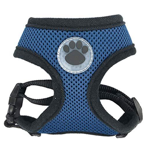 CHUNXU Hundegeschirr aus Gummi, verstellbar, weich, atmungsaktiv, für Hunde und Katzen, mit Brustgurt