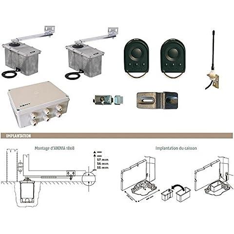 Somfy 1216213 - Motorización con brazo para motor enterrado de puerta de 24 V, Somfy AXOVIA 180B NS