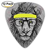 Sports Lion Guitar Picks 12 Pack Set Paddles Plectrums For Guitarist Players