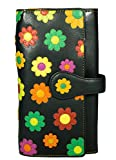 Visconti Twofold Leder Damen Geldbörse Daisy Floral Multicolor Purse(DS2) RFID: