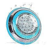 Roleadro Bianco Luce LED Piscina 54W IP68 Illuminazione Subacquea Luce per Piscina e Laghetto[18 * 3W]