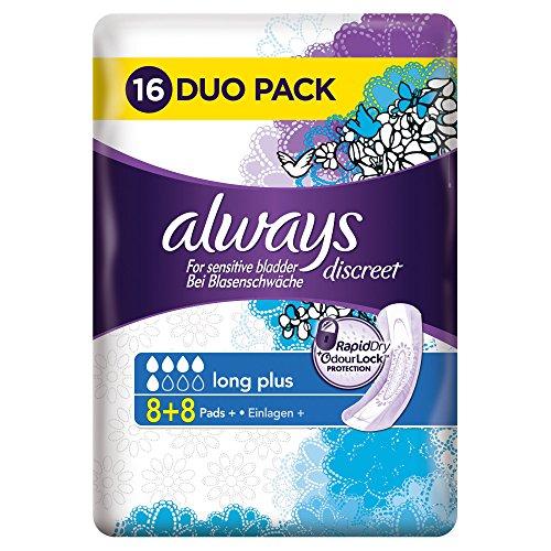 always-discreet-long-sanitary-pads-for-sensitive-bladder-pack-of-16