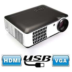 Flylinktech® RD-806 Full HD LED Proiettore Home Theater con HDMI / USB / AV / VGA / Component risoluzione 1280x800 1500: 1 2800 lumen Videogiochi Gaming commerciali Presentazioni