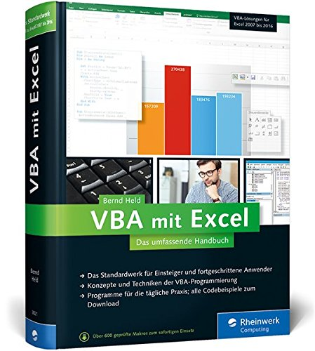 Preisvergleich Produktbild VBA mit Excel: Das umfassende Handbuch. Konzepte und Techniken der VBA-Programmierung. Das Standardwerk für Einsteiger und fortgeschrittene Anwender