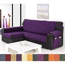 Jarrous Funda Cubre Chaise Longue Modelo Calpe, Color Gris, Medida Brazo Izquierdo – 240cm