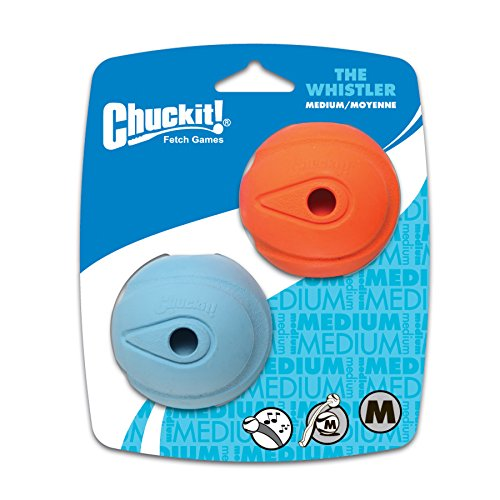 Canine Hardware Chuckit Whistler Balls Pack of 2 Fits Ball Throwers Chuckers