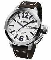TW Steel CE 1006 - Reloj analógico de Caballero con Correa de Piel marrón de TW Steel