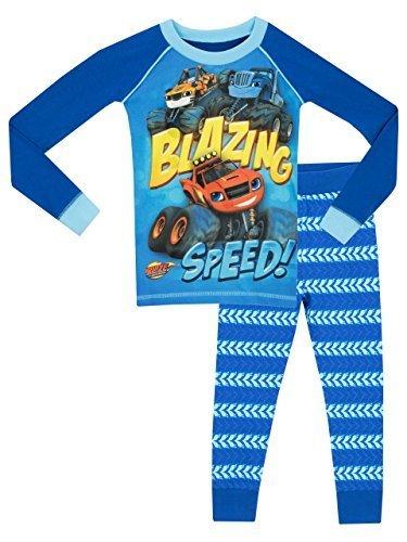 Blaze and the monster machines - pigiama a maniche lunga per ragazzi di blaze e le mega macchine - vestibilita stretta - 2 - 3 anni