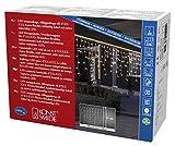 Konstsmide 4721-112 Maxi LED Kompakt System Erweiterung: Eisregen Lichtervorhang / für Außen (IP67) /  100 warm weiße Dioden / weißes Softkabel