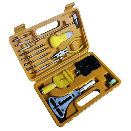 Kitzen Uhr Reparatur Kit Professionelle FrüHling Bar Tool Set Uhrenarmband Link Pin Tool Set Mit Tragetasche (16 StüCke)