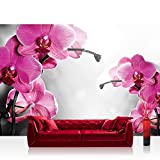 Fototapete 254x184 cm PREMIUM Wand Foto Tapete Wand Bild Papiertapete - Orchideen Tapete Orchidee Blumen Wellness lila - no. 1802