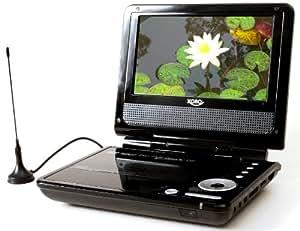 Xoro HSD 7560 Tragbarer DVD-Player (17,6 cm (7 Zoll)  LC-Display, DVB-T Tuner, Kartenslots, USB 2.0) schwarz