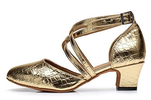 TDA , Sandales Compensées femme 5cm Heel Gold