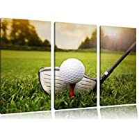 Golfabschlag 3 pezzi picture tela 120x80 immagine