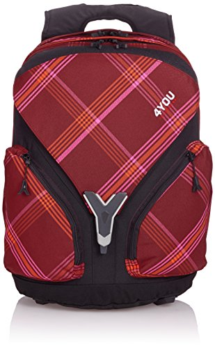 4YOU Kinder-Rucksack Igrec Rucksack Pink (Checker Red Pink) 11440064300