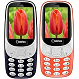 Snexian 3310 CARVING Feature Mobile Phone Combo Of Two Mobiles (Red + Blue) ,DUAL SIM, 2.4 Inch, Open FM With, 1400 Mah Battery, BLUETOOTH , CAMERA, Upto 32 GB Expandable Memory, BIS CERTIFIED & 1 YEAR Warranty