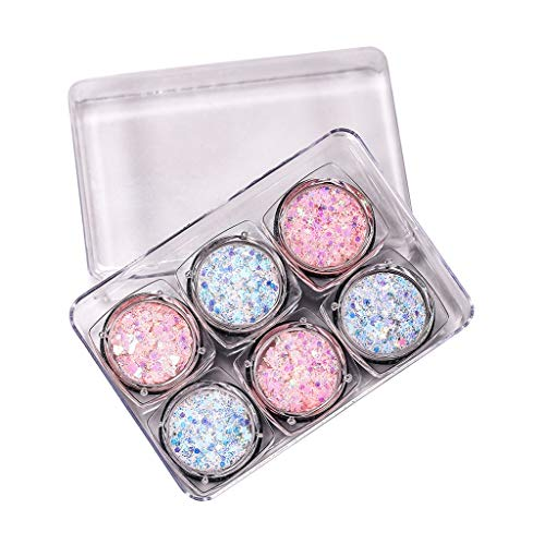 ziYOU Pearl Glitter Lidschatten-Puder-Palette Matt Eyeshadow Cosmetic Makeup 6 Color(Mehrfarbig H) -