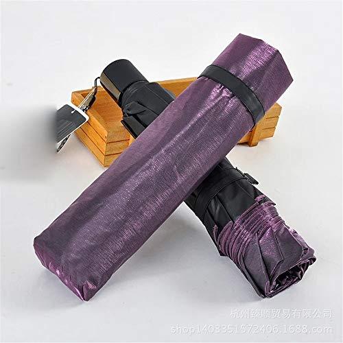skoy iyue Regenschirm Doppelter Regen Und Regen Doppelter UV-Kunststoff-Sonnenschutz Aus Schwarzem Kunststoff Erhöhen Sonnenschutz,DeepPurple