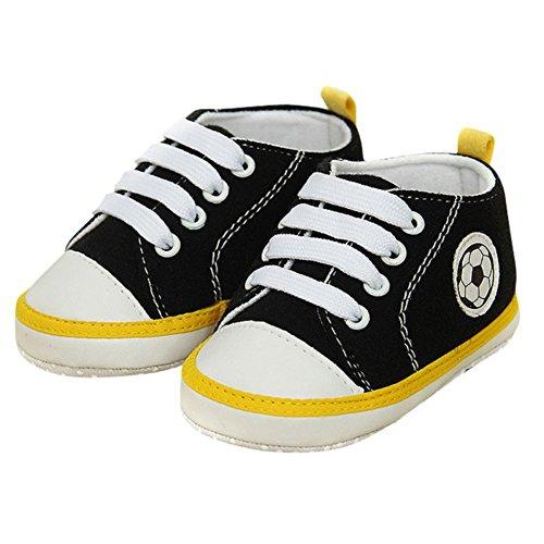 MiyaSudy Chaussures Bébé Filles Coton Couleur Unie Épissure de Couleur Dentelle Antidérapant été Crib Noir