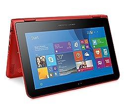 HP 11-k015TU 11.6-inch Touchscreen Laptop (Pentium Quad Core N3700/4GB/1TB/Windows 8.1/Intel HD Graphics), Sunset Red