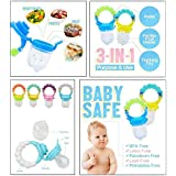 Baby Fresh Food, Fruit And Vegetable Feeding Pacifier By Flick In   Silicone BPA Free Teething Pacifiers   Baby Nibbler Food Feeder Teether   Baby Feeding Teething Toy   Mesh Feeder Teethers Toys  Feeder With Rattle   6 To 12 Months