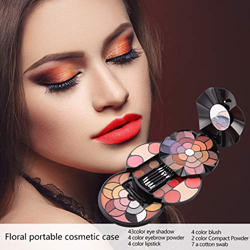Women Best Gift! Beisoug 57 Coloured Petals Make-up Teller 43 Color Eyeshadow 4 Colours Eyebrow...
