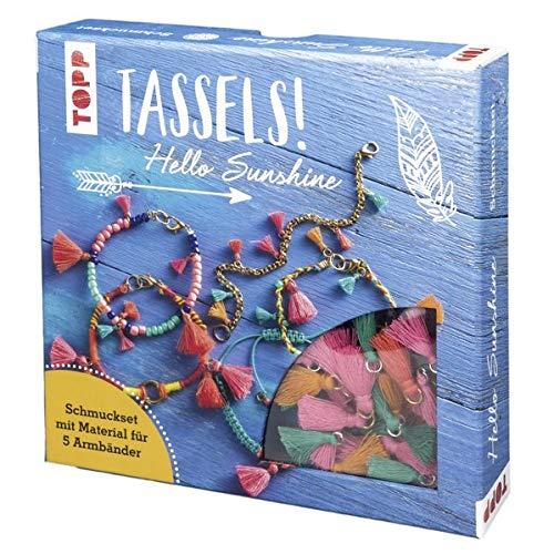Tassels! Schmuckset Hello Sunshine: Anleitung und Material für 5 Tassel-Armbänder zum Selbermachen