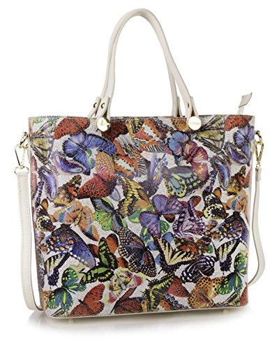 Big Handbag Shop, Borsa tote donna Butterfly - Beige Trim