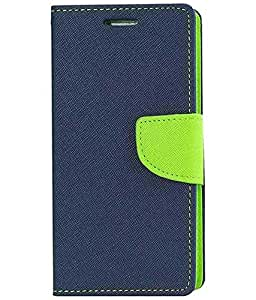 Sunny Fashion Mercury Goospery Fancy Diary Wallet Flip Case Cover for Micromax Canvas Doodle 3 A102-Blue/Green