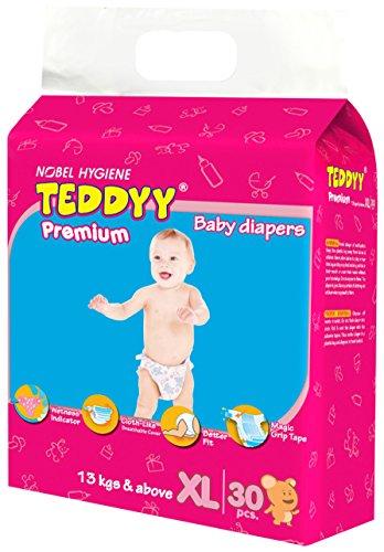 Teddyy Premium Baby Extra Large Size Diaper (30 Count)