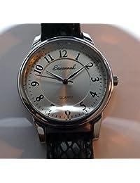 Savannah - Ref: 6003 - Reloj de Cuarzo para Mujeres Savannah de Diseño Suizo con Correa Adicional, Reloj para Mujeres con Correa de Cuero Negro, Reloj para Mujeres - 36mm