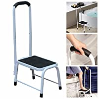 Kitchen Bath Non Slip Safety Step Stool Mobility Aid Handrail Platform Support by Crystals