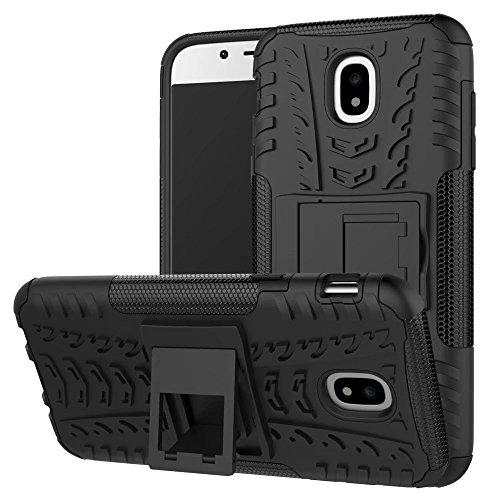 YHUISEN Hyun Pattern Dual Layer Hybrid Armor Kickstand 2 in 1 Shockproof Case Cover für Samsung Galaxy J5 Pro 2017 J530 (Europäische Version) ( Color : Green ) Black