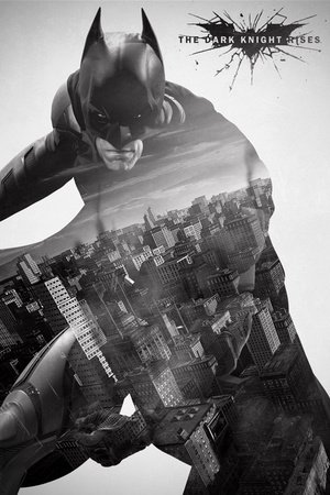 Batman-The Dark Knight Rises-City Silhouette)-Maxi Poster 61 cm x 91.5 cm