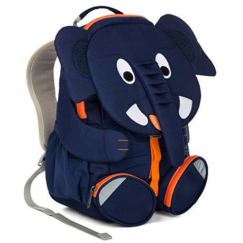 Affenzahn Kinderrucksack mit Brustgurt für 3-5 jährige Jungen und Mädchen im Kindergarten oder Kita der große Freund Elias Elefant - blau